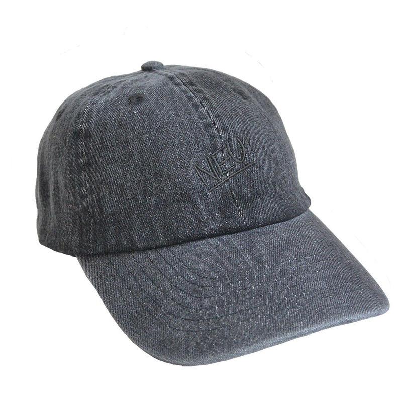 """NEU!"" / Washed Denim Low Cap / Vintage Black (luz.neu.b.c)"
