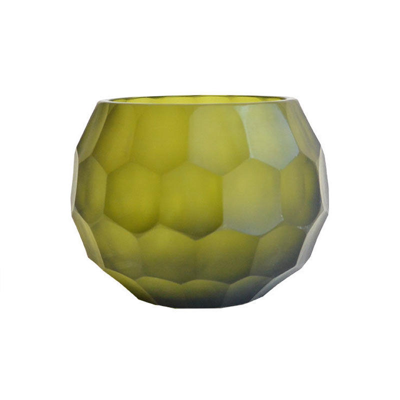 """India made"" tea light candle holder -moss green- (OMAC1299)"