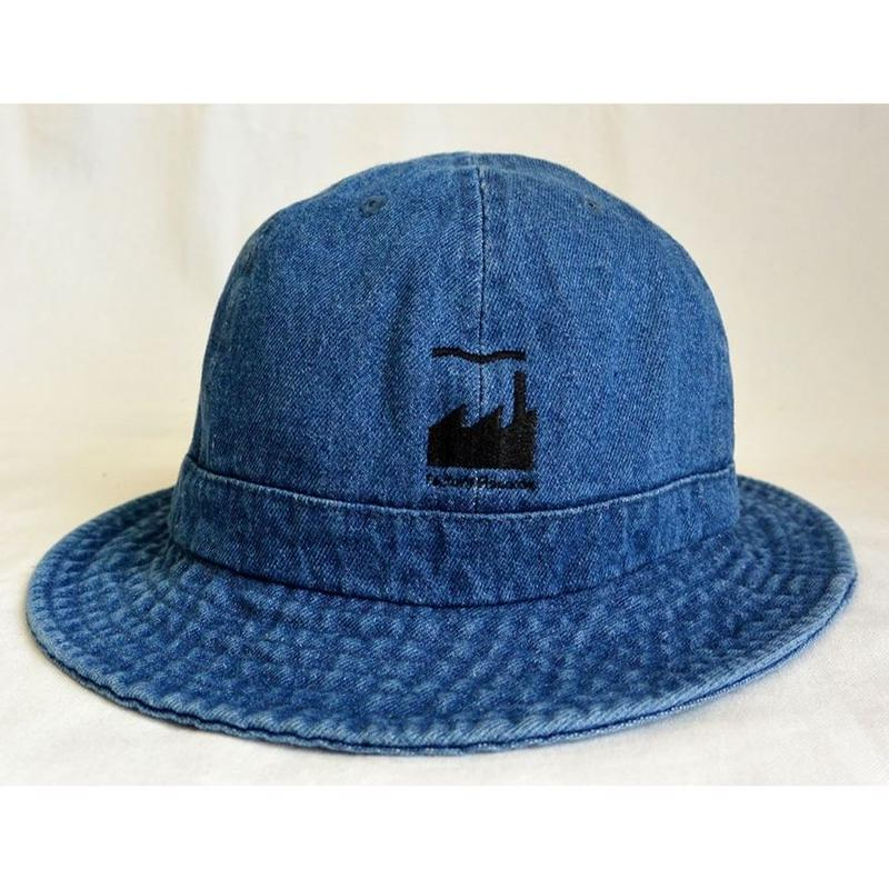 """E-yang""  Factory records / ""us army"" denim hat / Vintage Indigo Blue  -S/M & L/XL size-(emh.fac.I)"