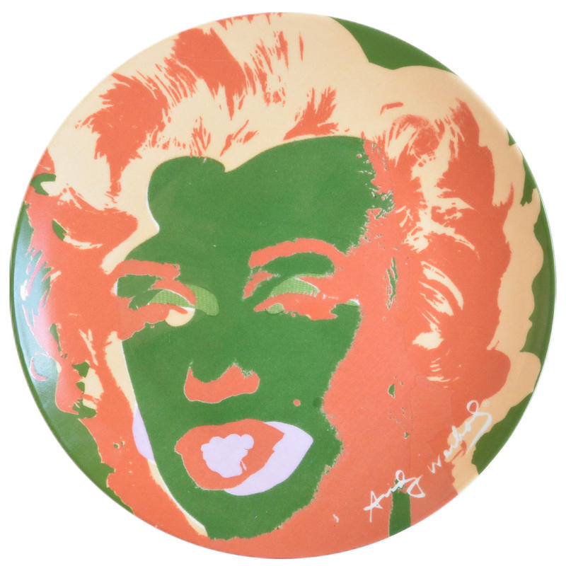 "antique  ""BLOCK"" andy warhol  -marilyn monroe-  pop art dish (mh009)"