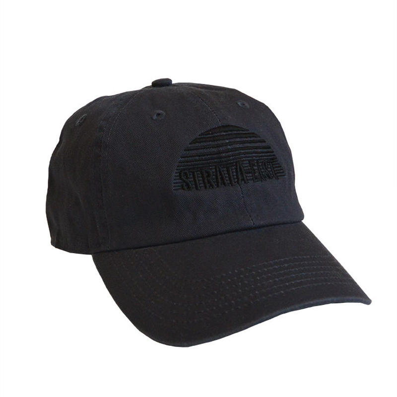 """""""Strata-East Records"""" / Washed Twill Low Cap / charcoal gray (luz.st.c)"""