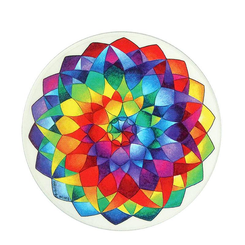 "【 starshine arts 】fiona mcauliffe ""rainbow mandala"" sticker (ss-2)"
