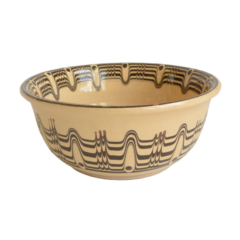 """troyan"" bowl (m) -white- bulgaria hand made/ monotone (tb-mw)"