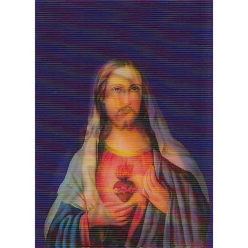 """L.M.kartenvertrieb""mary & jesus 3D animation postcard (glma007)"