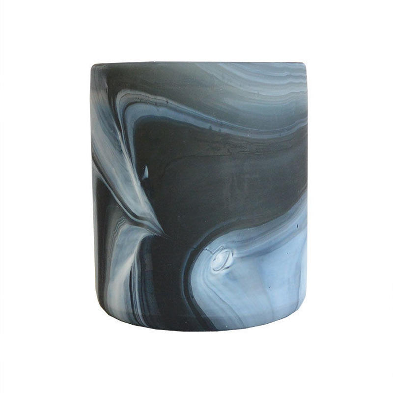 """India made"" tea light candle holder -monotone marble- (OMAC1308.)"