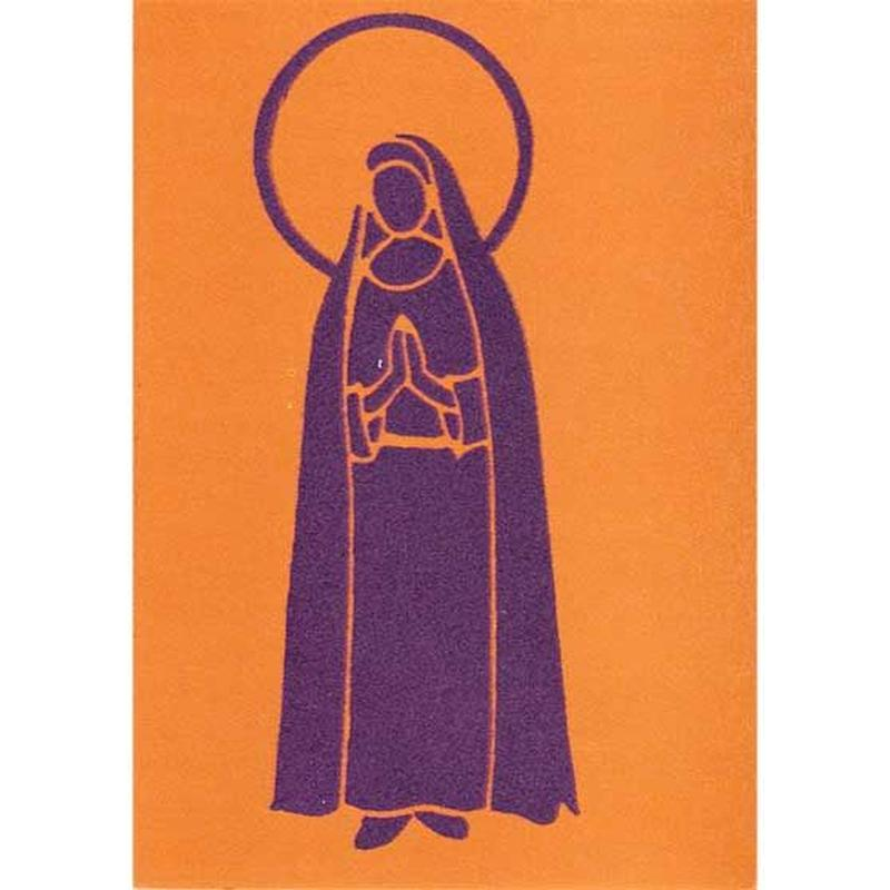 "L.M.kartenvertrieb ""mary"" flocky postcard -orange- (glmf002)"