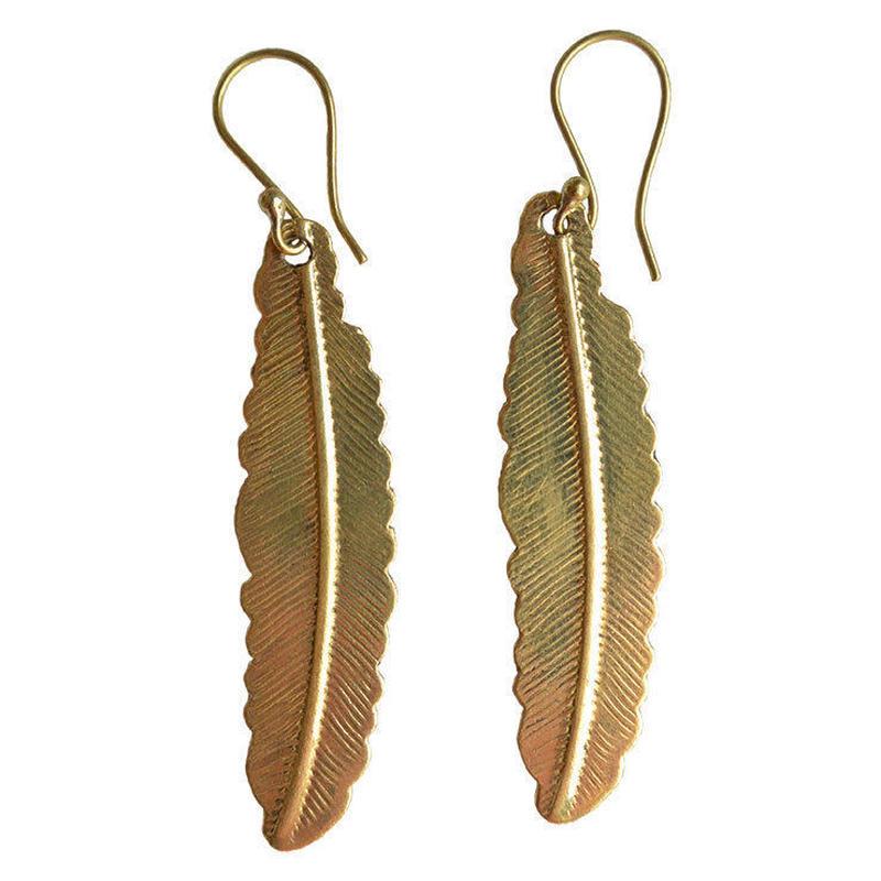"""""""feather"""" handmade brass pierce (gap006)"""