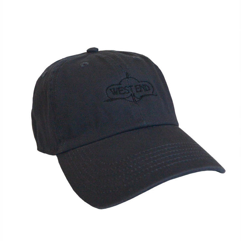 """""""West End Records"""" / Washed Twill Low Cap / charcoal gray (luz.we.c)"""