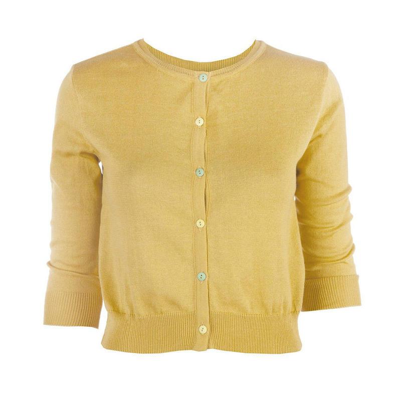 classic cardigan/mustard