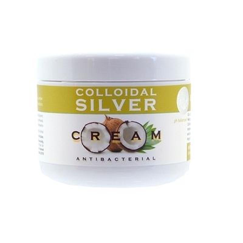 天然の抗生物質!シルバーで抗菌+ココナッツオイルで潤い コロイダルシルバークリーム 100ml
