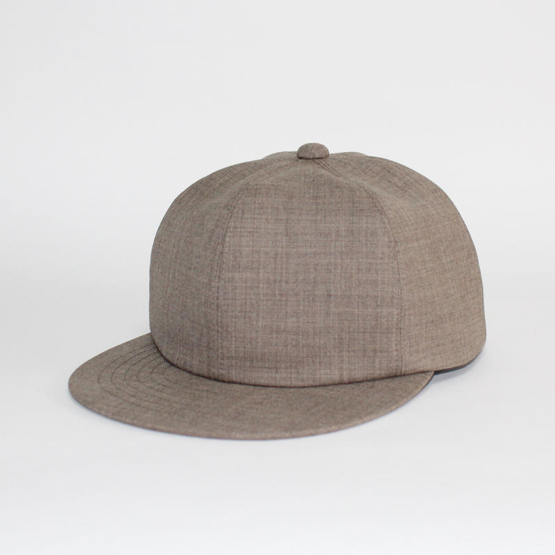 soft 6 panel cap (man) light brown
