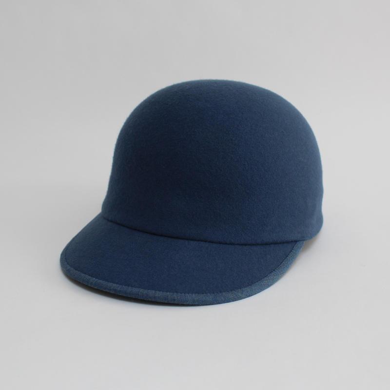 wool cap ( man & woman ) cobalt blue
