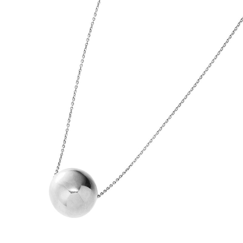 bola chain necklace (silver)