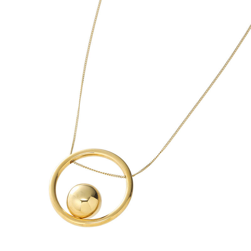 bola circle necklace  (gold)