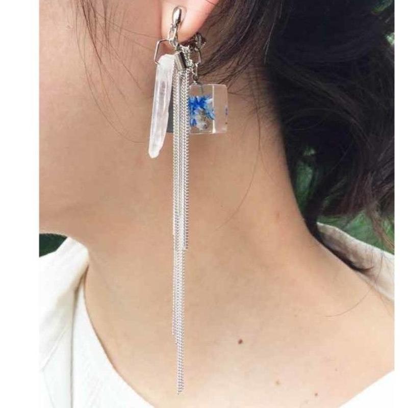 陽(ひ)と風のイヤリング silver       両耳セット