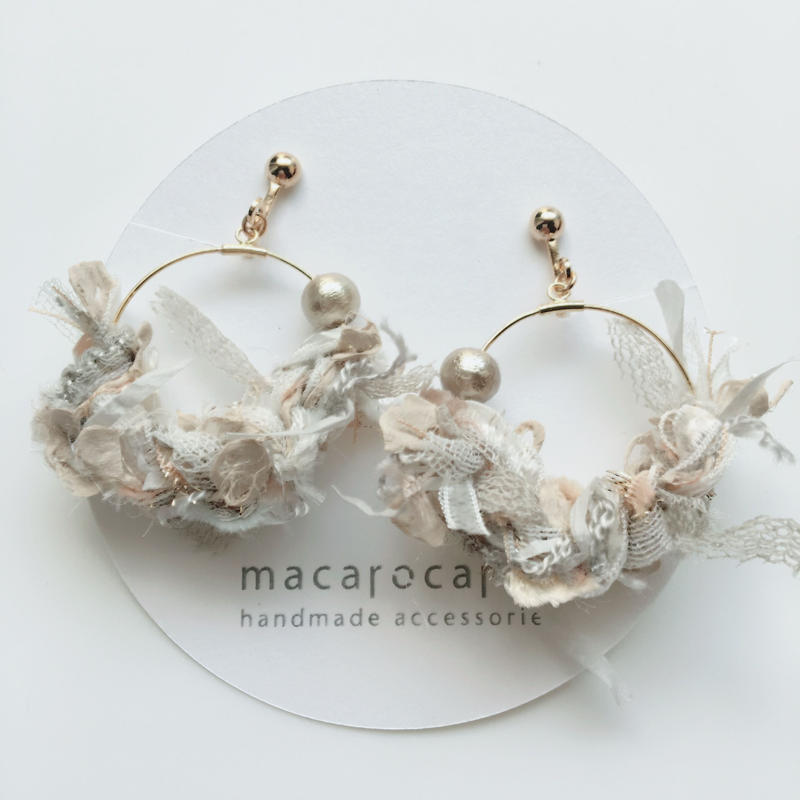 macarocaron #471 / Knit cotton pearl Ivory