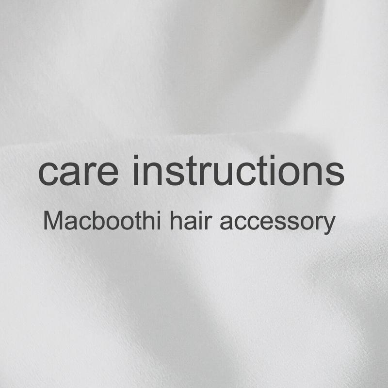 Macboothi hair accessory ゴムの取り換え方法