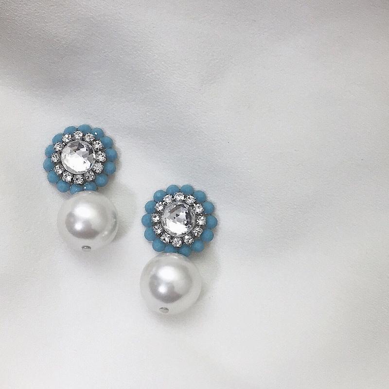 Macboothi petit pearl / turquoise