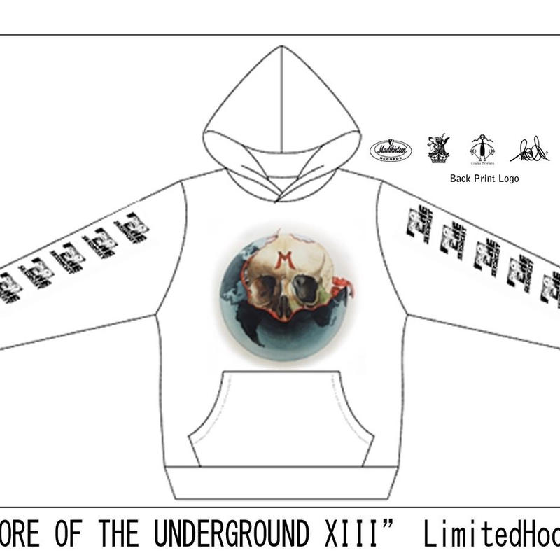 CORE OF THE UNDERGROUND XIII MAD13LIMITED HOODIE