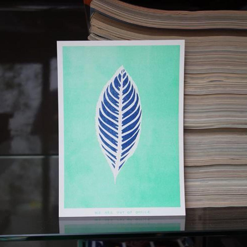 リソグラフプリント_トロピカルな葉