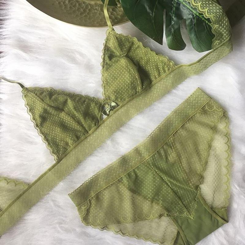 裏地付きmoss green set up