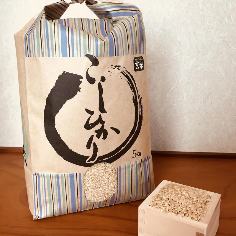 平成30年度静岡県産 新米 玄米コシヒカリ (無農薬栽培)5㎏