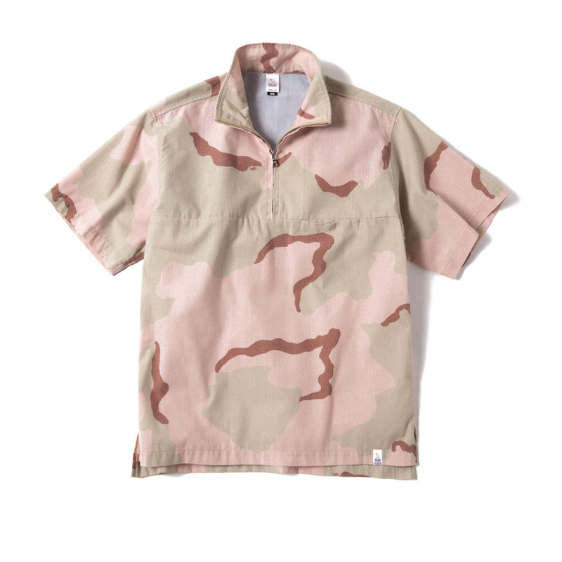 SEER SUCKER HALF ZIP SHIRT