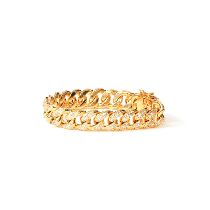 DESIGNER  BRACELET 14K GOLD FINISH LAB