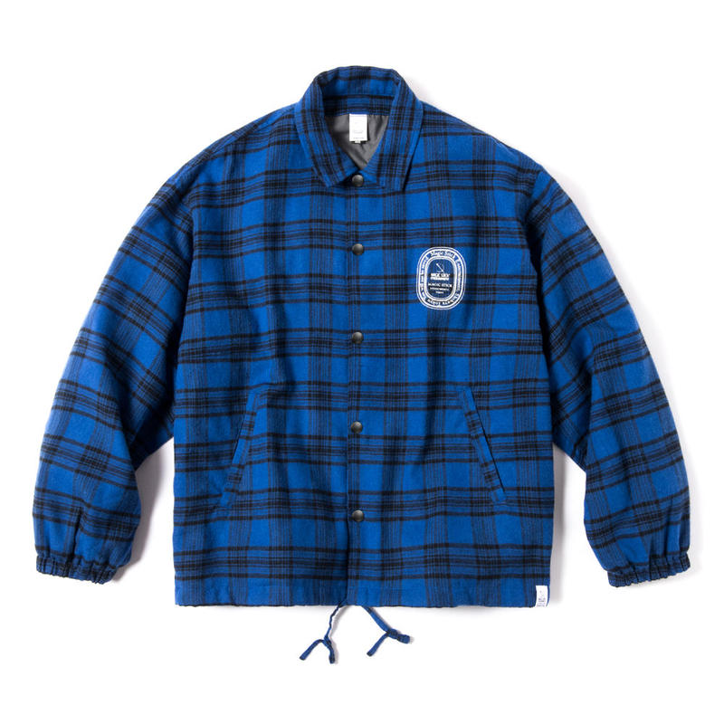 PLAID PAJAMAS COACH JACKET