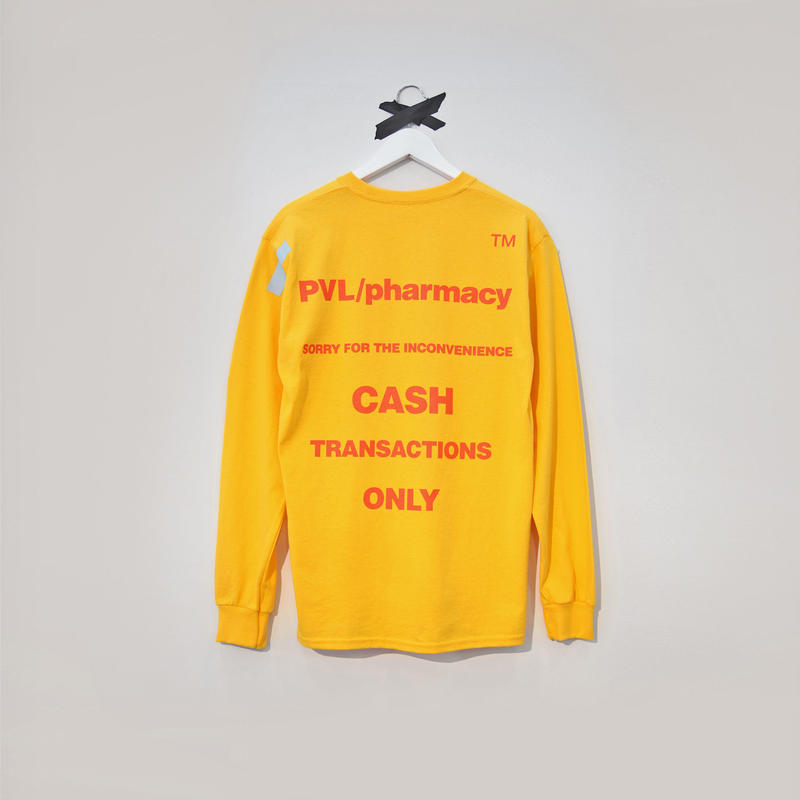 PHARMACY LS TEE (YELLOW)
