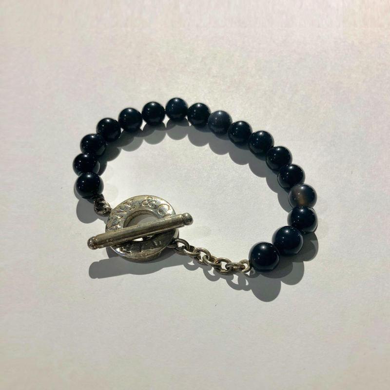 Tiffany / Onyx lariat bracelet