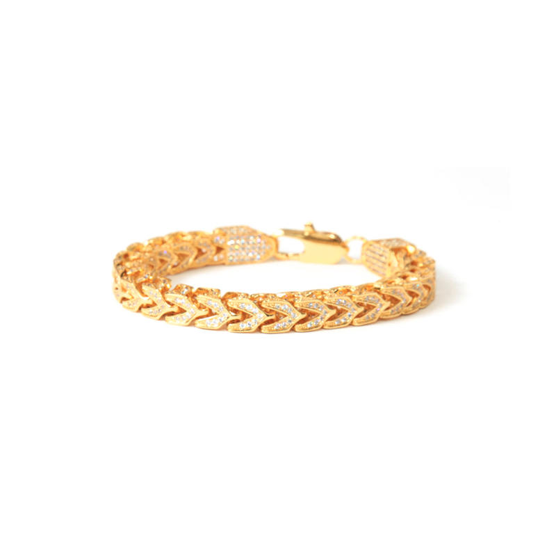 DESIGNER  BRACELET 14K GOLD FINISH LAB  _001
