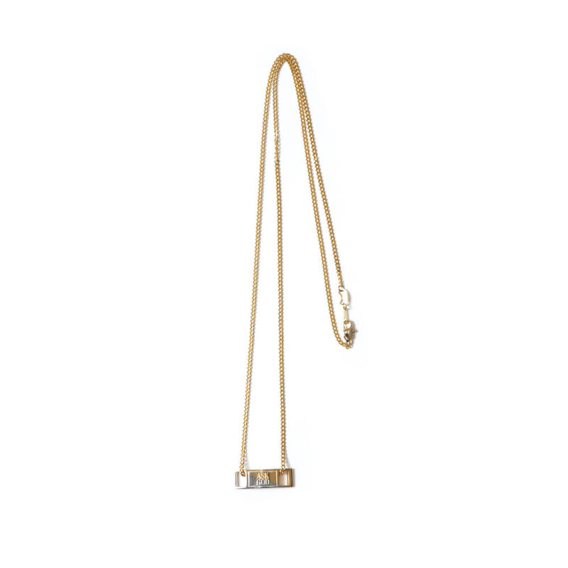 2 FACE AF1 PLATE NECKLACE (GOLD)