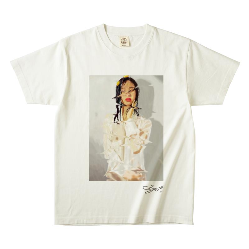 MAGO×FELIC オーガニックTシャツ2 【無精卵を被る女】