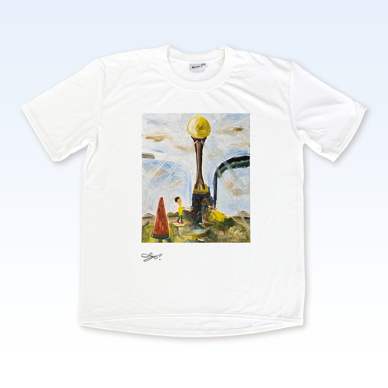 MAGO×BRING T-shirt【MOON TOWER WITH WATERMELON】