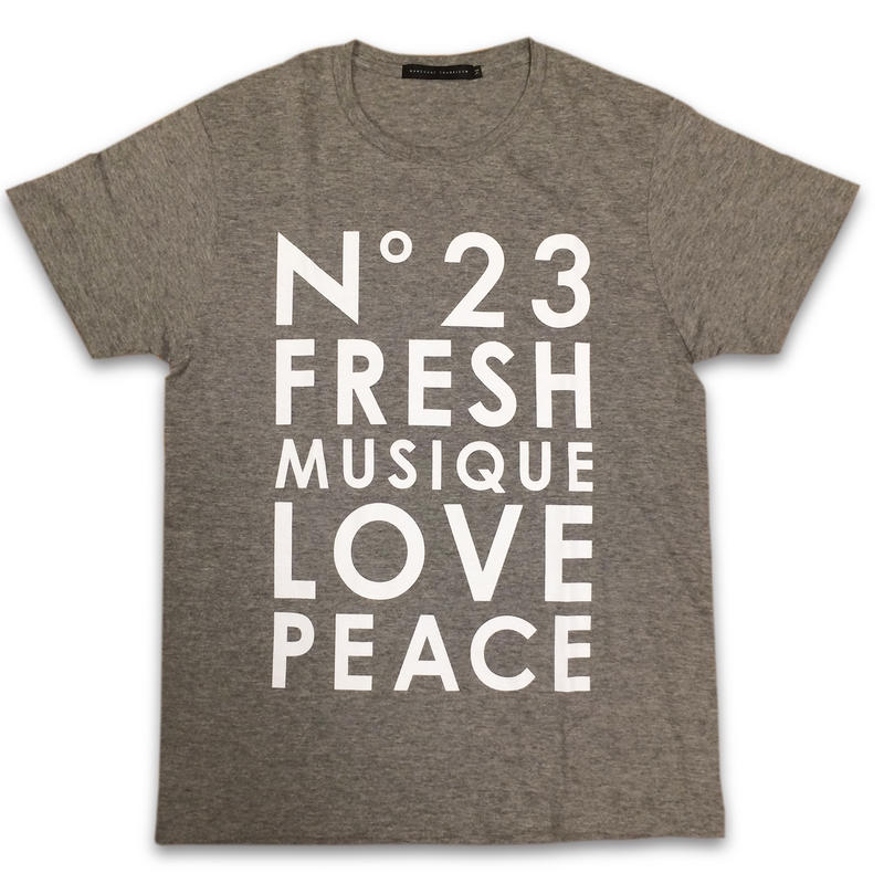 """No.23 FRESH"" T-SHIRTS (GREY)"