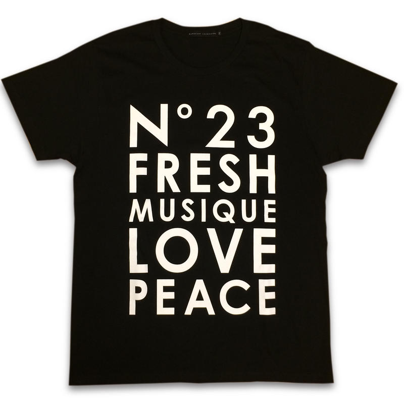 """No.23 FRESH"" T-SHIRTS (BLACK)"