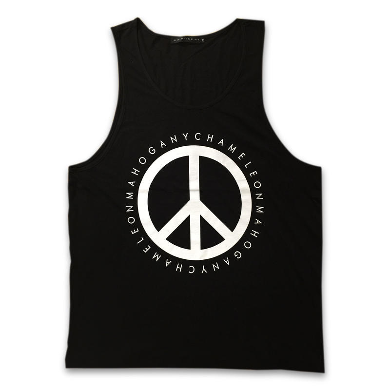 """PEACE & BOX"" TANK TOP (BLACK / WHITE)"