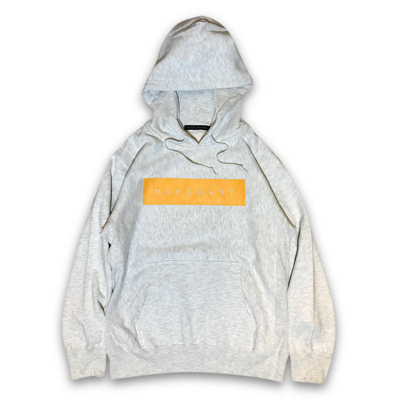 """BOX LOGO"" HOODIE (NATURAL / BRIGHT YELLOW)"
