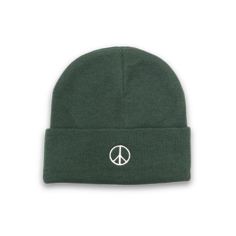 PEACE BEANIE (GREEN)