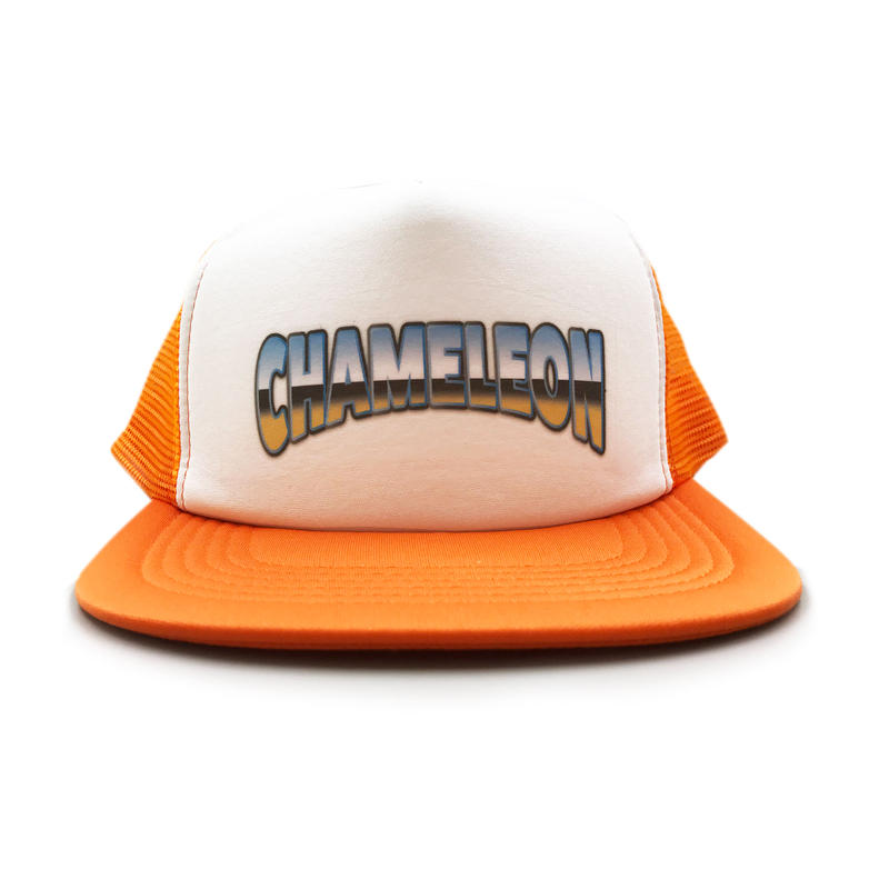 """OLD SCHOOL"" MESH CAP (ORANGE)"