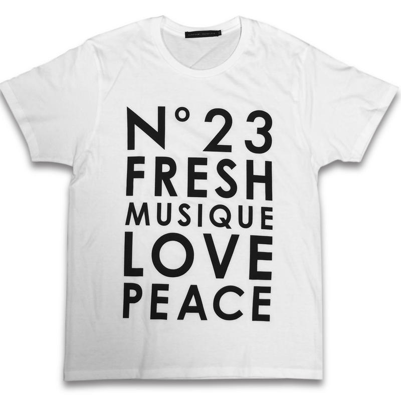 """No.23 FRESH"" T-SHIRTS (WHITE)"