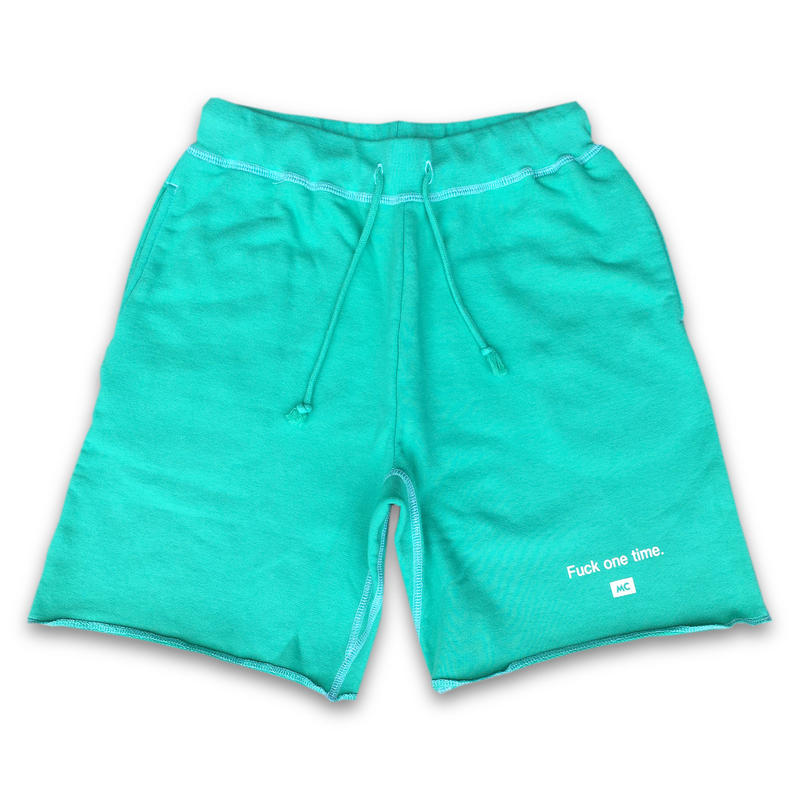 """Fuck one time"" SUMMER RESORT SHORT SWEAT PANTS  (MOJITO GREEN)"