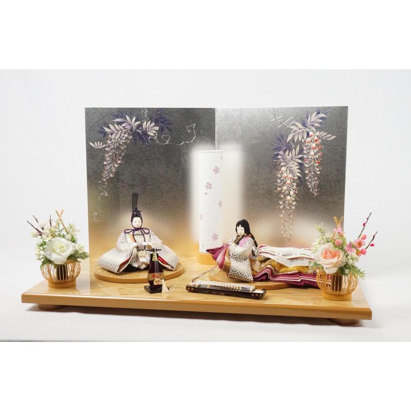 紫苑平飾り 七宝 藤 [SH-60-S-4208]
