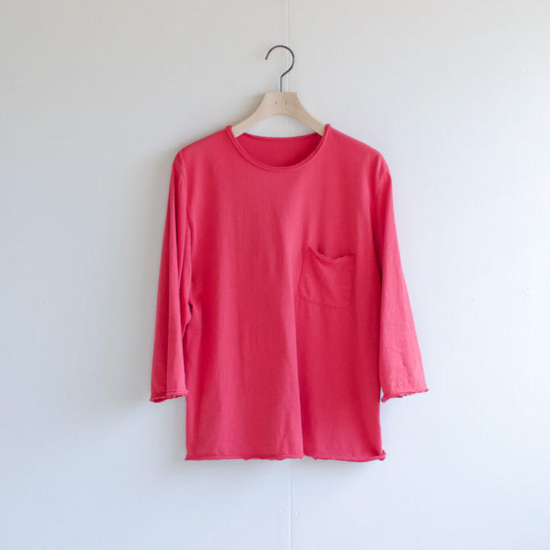 pj cotton 25s /pocket cut off  t-shirt/red/size1・2