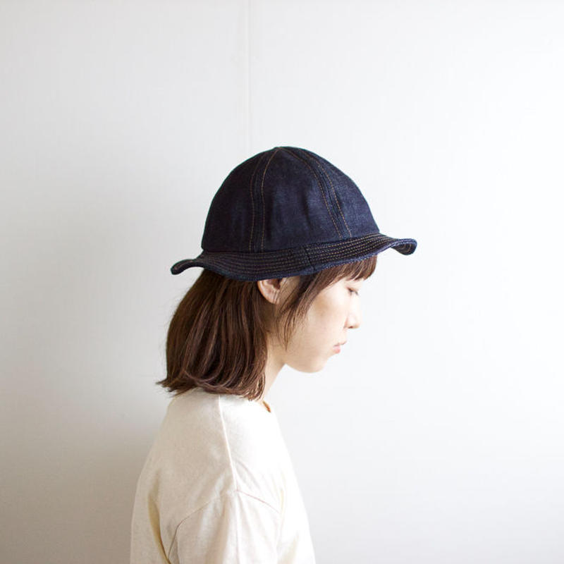 cotton fatig hat/denim/beige/khaki