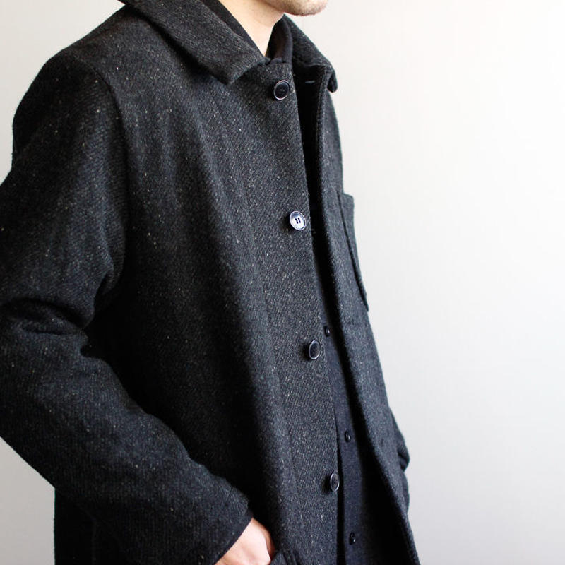 Lomond stand fall collar coat/charcoal gray/size2(MAN)