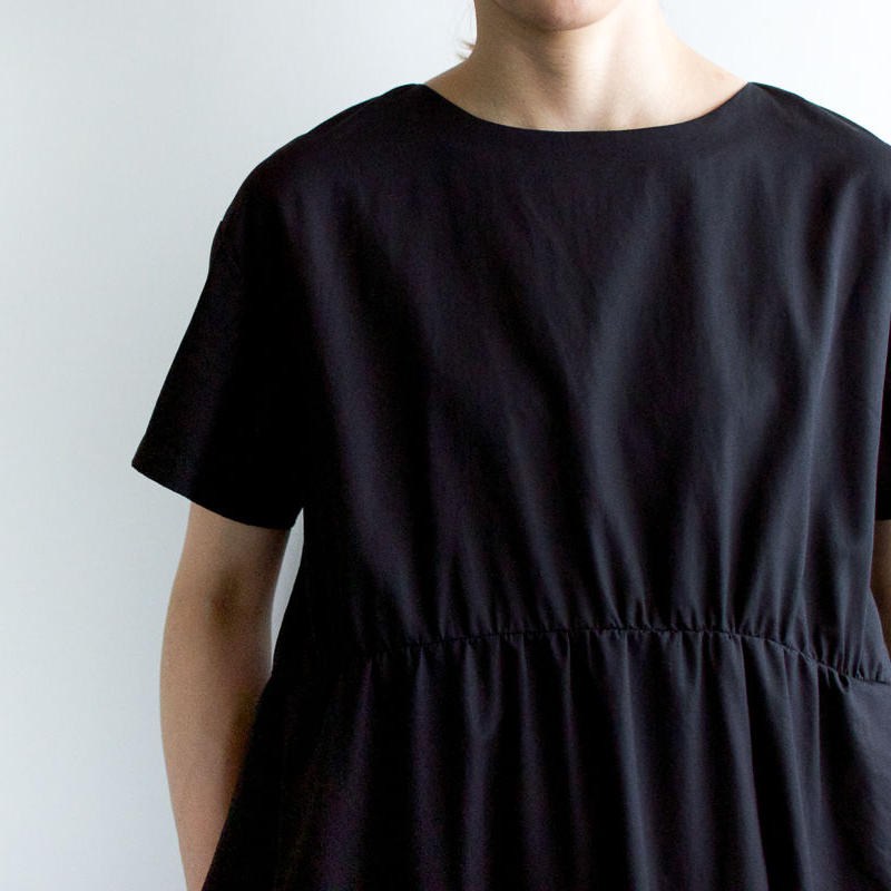weather cloth cotton linen/gather one piece
