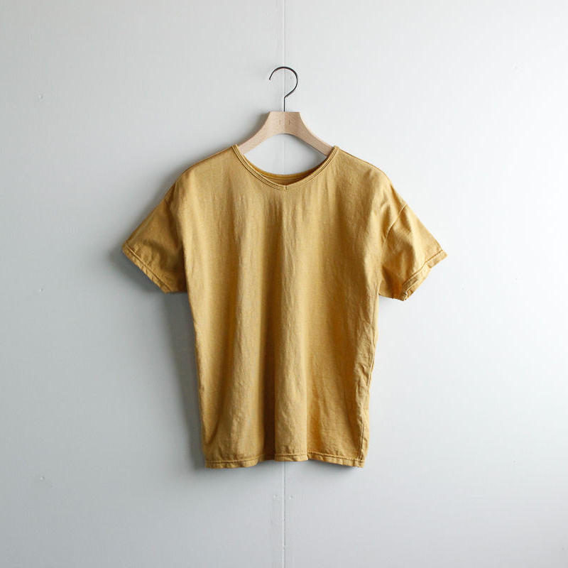 used plain stitches/neck reversible tshirt/cinnamon