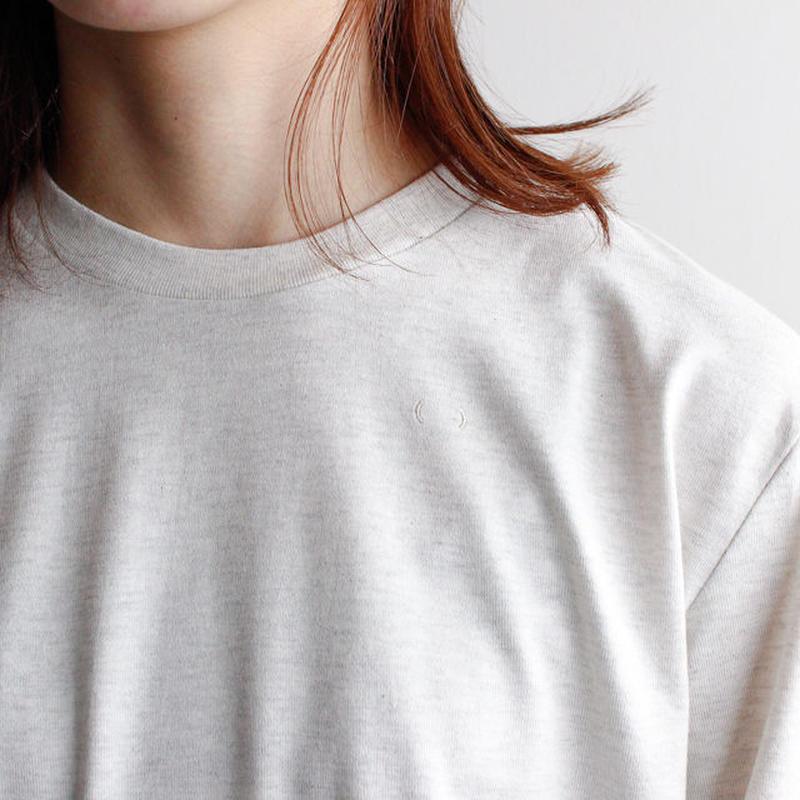 combed yarn enbroidery mark tshirt/oatmeal